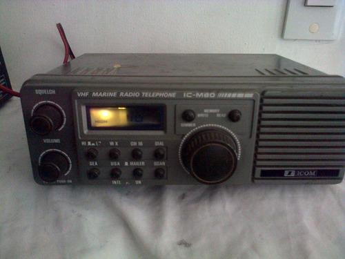 radio banda marina vhf icom-icm80 para reparar remato