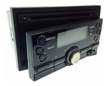 radio beck ec3302 doble din cd bluetooth aux usb mp3 sd auto