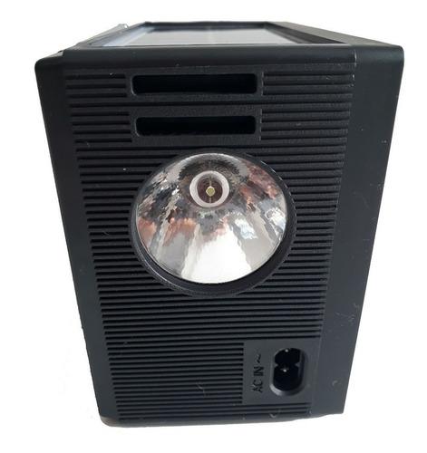 rádio bluetooth am fm funciona bateria energia placa solar
