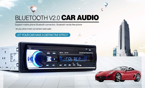 radio bluetooth auto mp3 usb sd aux fm 1 din estereo calidad