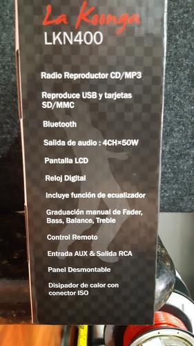radio bluetooth cd usb fm  lkn400 la koonga nuevo tienda 70v