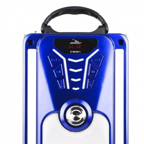 rádio caixa amplificada bluetooth usb mp3 microfone karaokê