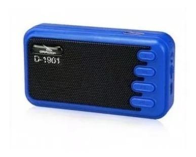 rádio caixa de som azul perfeito