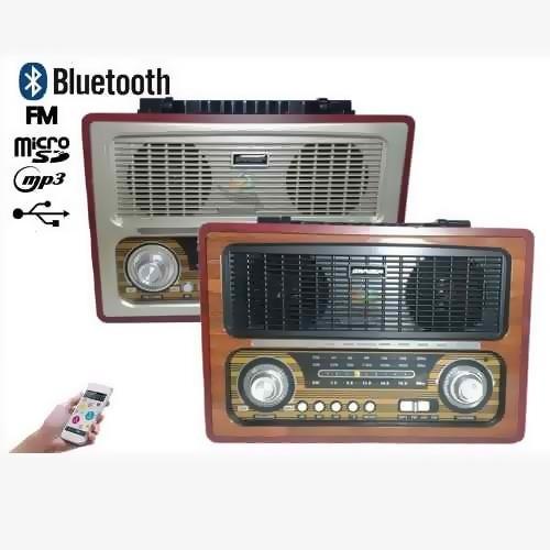 rádio caixa de som retro bluetooth am fm usb cartão sd portá