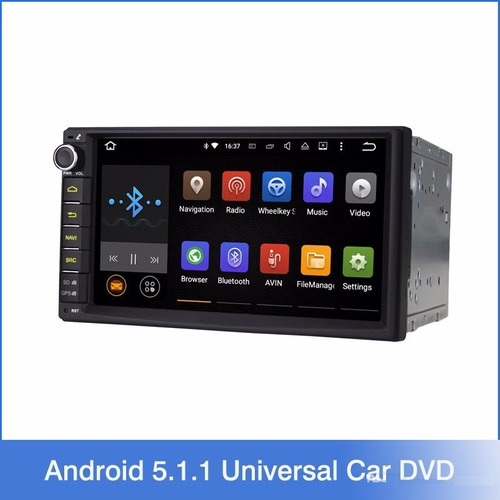 radio carro auto 2 din android 5.1 gps wifi bt 1g 16 gb