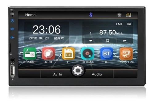 radio carro mirrolink iphone y android 7 pulgadas camara