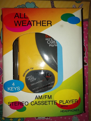 radio cassete am/fm - walkman con audifinos - nuevo