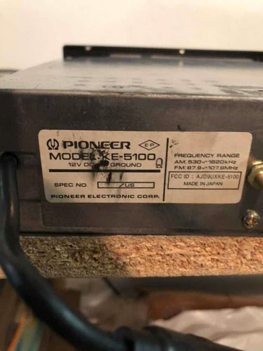radio cassette pioneer ke 5100 japonés excelente estado