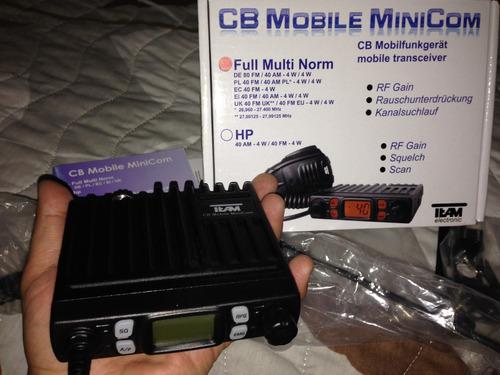 radio cb am/fm banda ciudadana de 11 metros team minicom3208