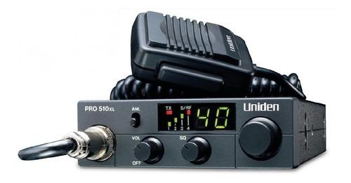 radio cb uniden pro510xl movil 40 canales 4 watts compacto