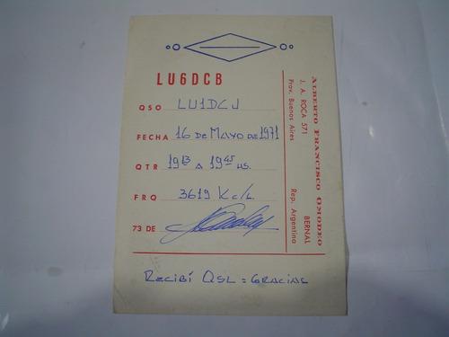 radio club lu6dcb qsl estampilla emisora radioaficionado