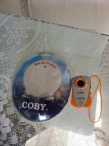 rádio coby mini  cx71 - am/fm - novo
