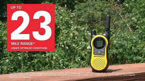 radio comunicador 37km talkabout walk talk motorola mh230 ur