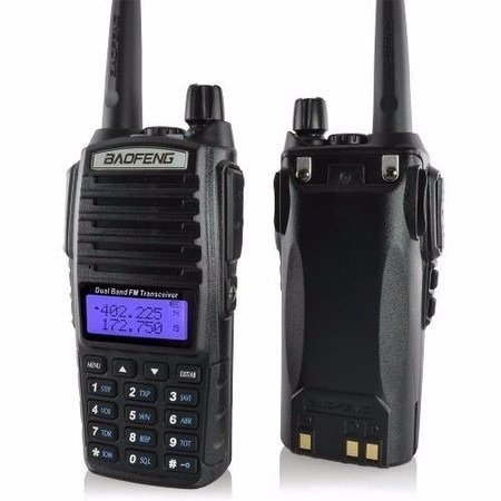 rádio comunicador baofeng dual band 8w talkabout uv-82