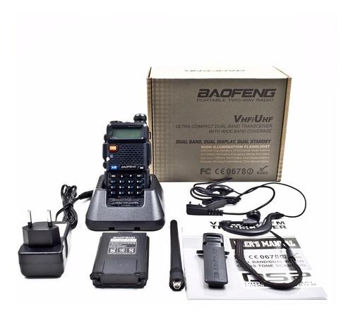 radio comunicador baofeng dual band uv5r + 1 antena nagoya