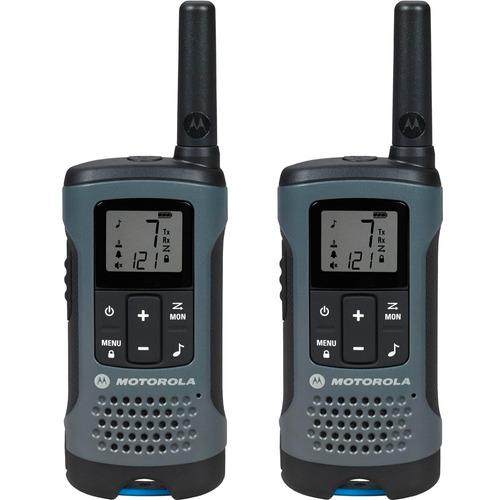 rádio comunicador motorola talk about t200br cinza - 32 km