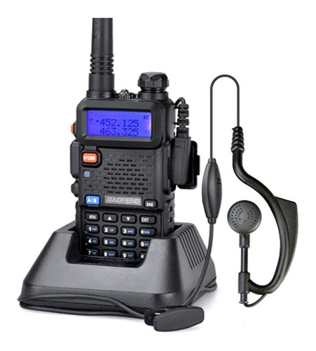 rádio comunicador walk talk ht baofeng dual band uv5r fone