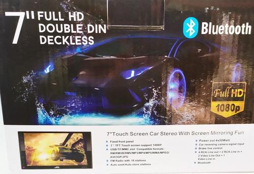 radio con pantalla de 7 pulgadas, bluetooth, usb, fm,tactil
