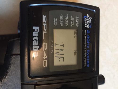 radio controle futaba 2pl 2 canais com receptor