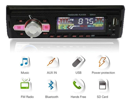 radio de auto 1 din bluetooth usb mp3 microsd aux