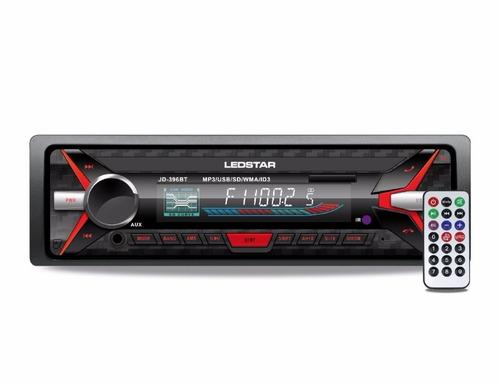 radio de auto ledstar bluetooth frente desmontable control