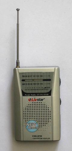 radio de bolsillo livstar usada