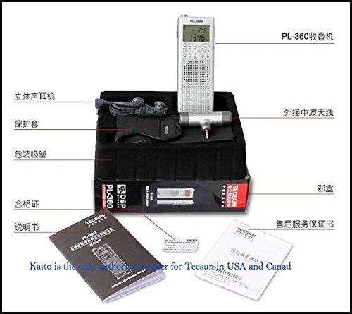 radio de onda corta tecsun pl-360 digital pll portable a..