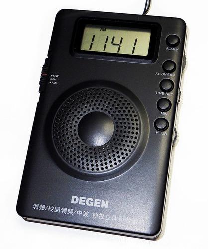 Rádio Degen De215 Fm/fml Digital Chip Dsp Alarme Relógio