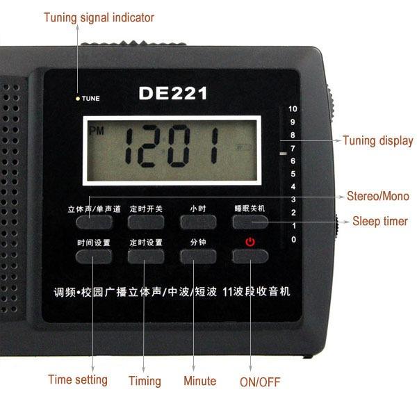Rádio Degen De221 Am/fm Stéreo/sw Multibanda Chip Dsp