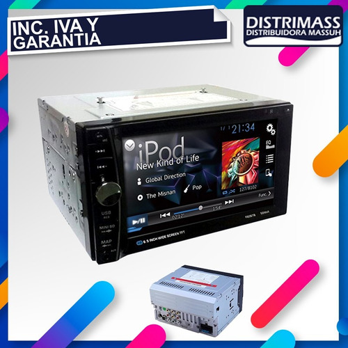 radio doble dim bloque pantalla touch cd dcd usb mp3