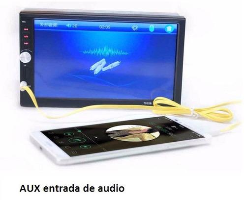 radio doble din bluetooth táctil 7'' + cámara+control timón