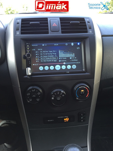 radio doble din touch 7¨ hd/ mirror,blueth,usb,sd, garantía!