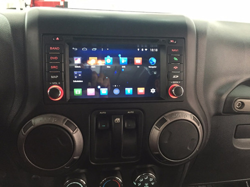 radio dvd gps jeep wrangler/rubicon  modelo premium