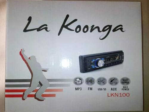 radio equipo repoductor para carro koonga usb fm mp3 aux