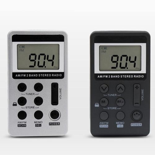 rádio estéreo am / fm ajuste digital portátil com fone de ou