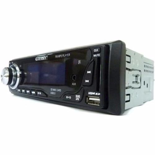 radio eterny et33001 c/ controle usb sd fm aux. equalizador