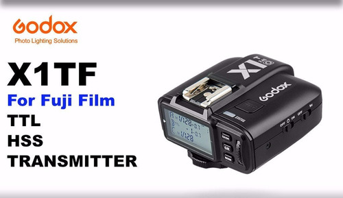 rádio flash godox x1 x1t-f fuji ttl wireless flash trigger