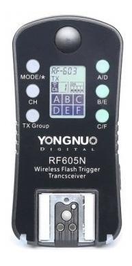 rádio flash para nikon rf-605n yongnuo  nf