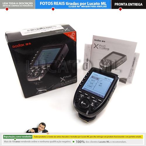 radio flash xproc transmissor godox canon ettl | np