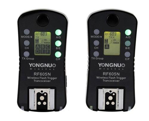radio flash yongnuo rf605n rf-605n rf-605 rf605 p/ nikon