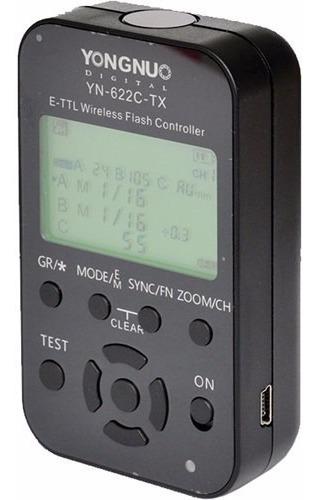 radio flash yongnuo yn-622c tx controlador flash s/fio canon