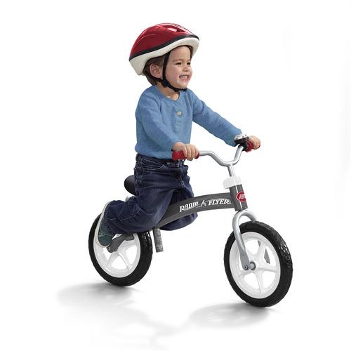 radio flyer bicicleta de equilibrio glide y go, color gri