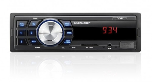 radio fm aux mp3 player automotivo multilaser one usb sd