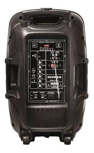 rádio fm caixa de som amplificada pendrive usb auxiliar 400w