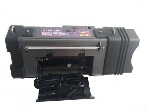radio fm lanterna led bivolt recarregável caixa p2 bluetooth