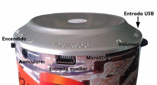radio fm, parlante, usb, microsd, mp3, recargable