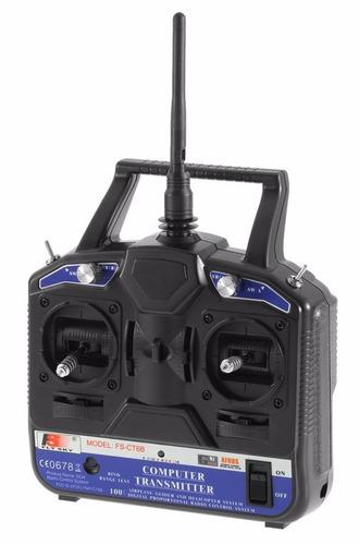 rádio fs-ct6b 2.4g 6ch transmissor