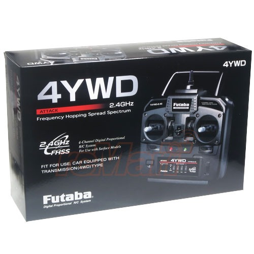 radio futaba attack 4ywd am 4 canais 2.4 ghz tamiya