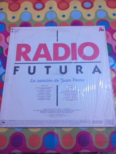 radio futura lp la cancion de juan perro, con inser 1987