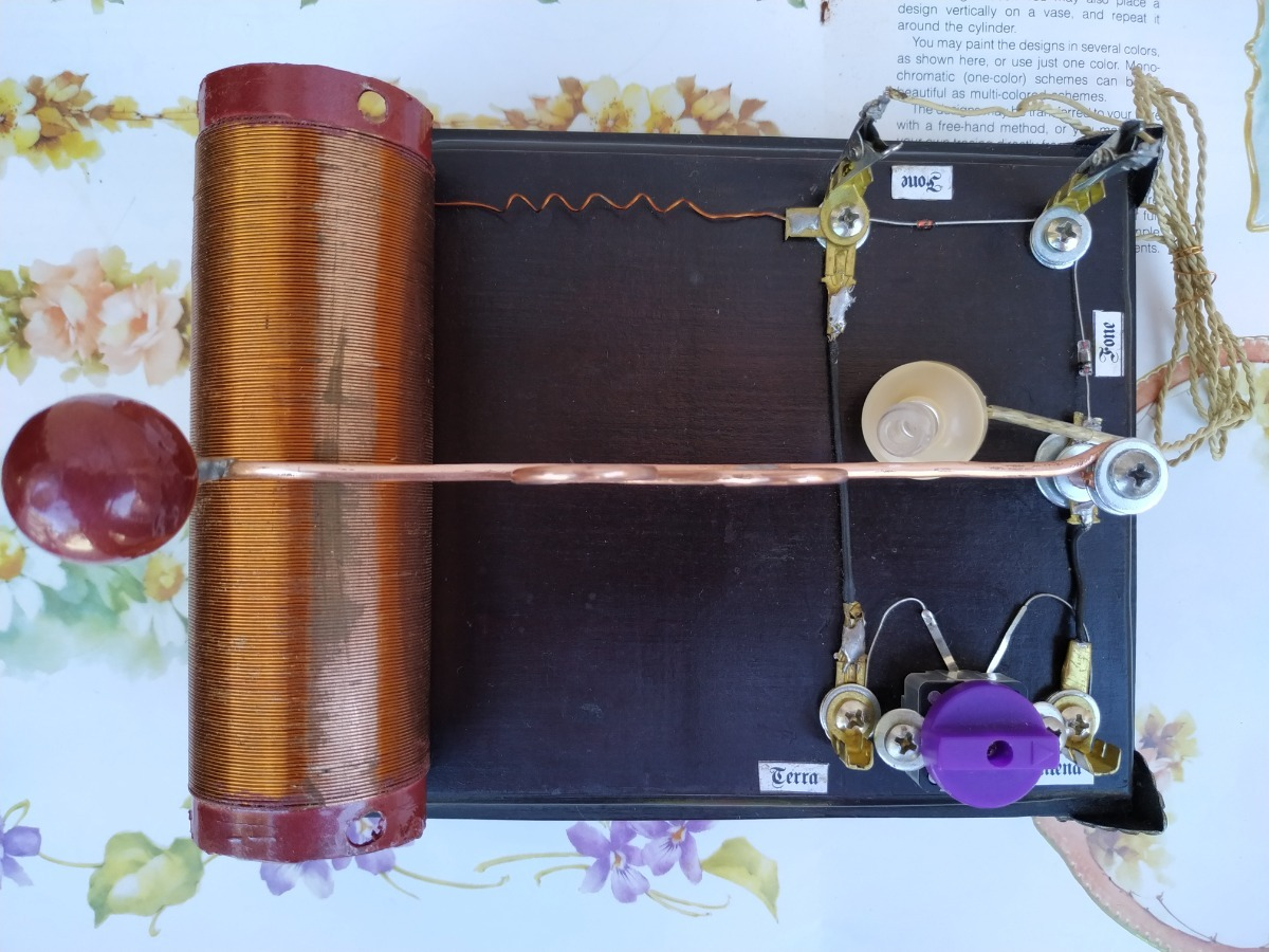 Radio galena com bobina variável